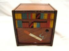 Vintage Library Dog/Bear Motion Animated Cigarette Music Box Dispenser Wind Up
