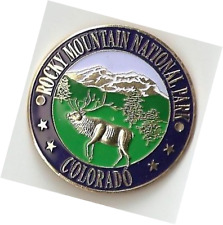 Rocky Mountain National Park - Elk - Hiking Stick Medallion