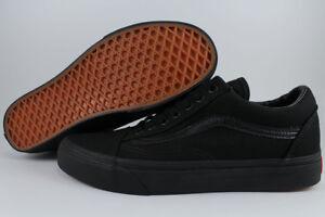 VANS OLD SKOOL TRIPLE BLACK/BLACK CANVAS CLASSIC SKATE 0D3HBKA US MEN WOMEN SIZE