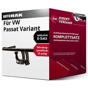 Für Passat Variant Typ 365/B7 Anhängerkupplung abnehmbar + E-Satz 13pol neu