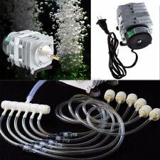electromagnetic Air Compressor Pump Oxygen Aquarium Fish tank Pond 6 way aerator