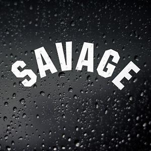 Savage Car Sticker - JDM DUB Euro Tuner De-Wiper Rear Window Decal
