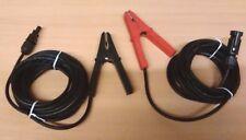 Par Cables Solar de 5 M 4 mm + MC4 se conecta Cocodrilo Aligator Clips Panel Portátil 40 A