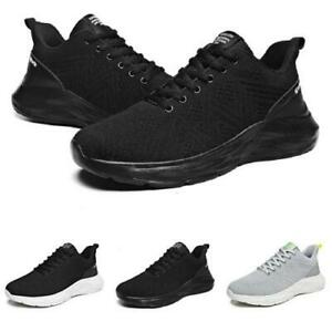 Mens Leisure Sneakers Shoes Gym Outdoor Running Jogging Mesh Breathable Casual D