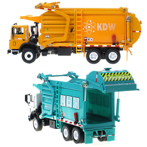 1:24 Scale Diecast Recycling Garbage Truck Model Toy Car with Bin