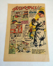 1949 BOB FELLER Sportopics cartoon page