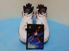 2012 Nike Air Jordan 8 Retro White Black True Red Mens Size 9 305381-103