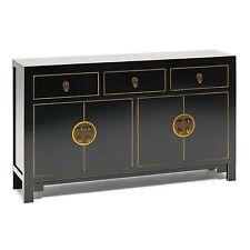 Tibet oriental painted furniture black large living dining room sideboard