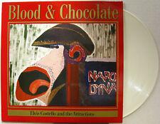 ELVIS COSTELLO Blood & Chocolate 1986 GERMAN Only WHITE VINYL LP Attractions
