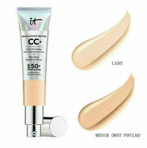 NEW IT COSMETICS CC+ COLOR CORRECTING FULL COVERAGE CREAM UK FREE AND FAST POST