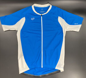 Fox Air Cool Full Zip Cycling Jersey Kit, Blue, Mens Large, Good Condition