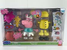 Peppa Pig Talking Dress Up Peppa Large Figure Kids Play Toy Playset Brand New