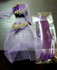 Doll Clothes Barbie doll Size Jasmin Purple see threw Outfit?
