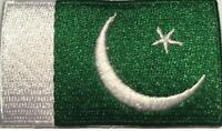 Pakistan Flag Small Iron On / Sew On Patch Badge 6 x 3.5cm IRP AIRSOFT