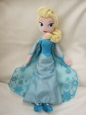 "ELSA FROM FROZEN LARGE 19"" DISNEY PARKS PRINCESS PLUSH SOFT TOY DOLL FIGURE"