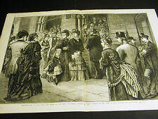 Christmas Day in NYC 1874 Victorians Front of CHRIST CHURCH 5th Ave. Large Print