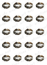"20 Nail Decals *CAMOUFLAGE LIPSTICK KISS""  Water Slide Nail Art Decals"