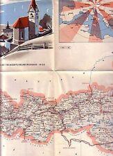 C1 AUTRICHE Carte Routiere Depliante 1961 PLATZER Couleurs