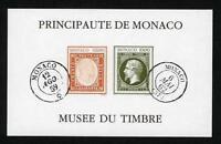"MONACO BLOC FEUILLET 58a "" MUSEE DU TIMBRE NON DENTELE 1992 "" NEUF xx SUPERBE B4"