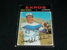 Montreal Expos Don Hahn Auto Signed 1971 Topps Card #94  VINTAGE  TOUGH  K