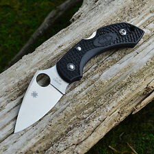 Spyderco Dragonfly 2 Black FRN Plain Edge VG-10 Folding Knife C28PBK2