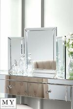 Triple Folding mirrored dressing table / console mirror - COLLETA (ID:18338)