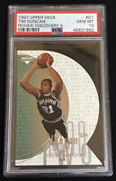 1997-1998 Upper Deck Rookie Discovery 2 Tim Duncan #D1 PSA 10 Low Pop Only 19