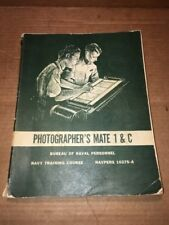 Vintage PHOTOGRAPHER'S MATE @1964 NAVY TRAINING COURSE MANUAL Intel 10375-A