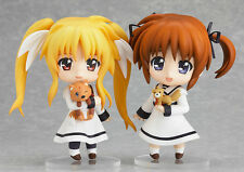 Nanoha Takamachi, Fate Testarossa. Nendoroid 254. Genuine Good Smile Com. New.