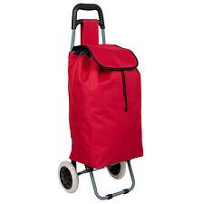 Einkaufstrolley Einkaufsroller Trolley Roller Einkaufswagen klappbar faltbar rot
