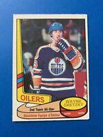 Wayne Gretzky 1980-81 O-Pee-Chee Hockey Card #87 All Star Edmonton Oilers