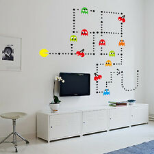 Pacman Classic 80's Retro Children's Adult Wall Art Stickers Decals Huge Sheet