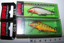 RAPALA FISHING LURES PAIR OF CD-5  COUNTDOWN    Trout, Bass, Cod. #3 *