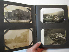 SUPER Postcard Album Naples NY Canandaigua Lake + others 1910 RPPC Real Photos