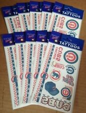10x Lot Party Supply Favors CHICAGO CUBS Officially Licensed Temporary Tattoos