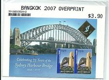 2007 Bangkok Overprint Mini Sheet  Complete MUH/MNH as Issued Missed by Many
