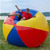 150cm Giant Colorful Beach Volleyball Inflatable Beach Ball Inflated ball toys