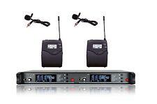 Pro 200 Ch UHF Wireless Lavalier Tie Clip Microphone for Sennheiser wireless