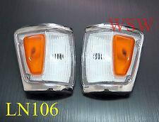 88 - 97 TOYOTA HILUX LN106 4WD 4X4 CHROME INDICATOR CORNER LIGHT PAIR 94 95 96