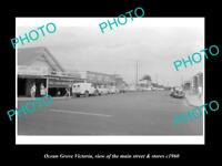 OLD LARGE HISTORIC PHOTO OF OCEAN GROVE VICTORIA THE MAIN St & STORES c1960