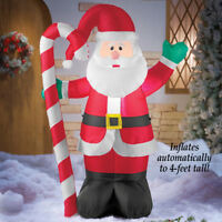 Inflatable Lighted Waving Santa Claus Outdoor Yard Lawn Christmas Decoration New