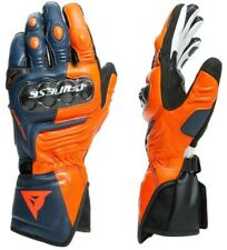 Glove Motorcycle Racing Leather Dainese Carbon 3 Long Gloves Orange