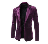 Men's Stylish Long Sleeves Slim Fit Blazer Formal Casual Suits Coat Jakcet Tops