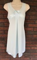 Vintage Gossad Artemis Nightgown Medium Nylon Gown Blue Satin Details Beautiful