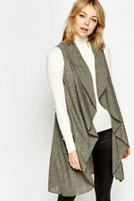New Womens Waterfall Speckled Olive Cardigan Size (UK 8-12)