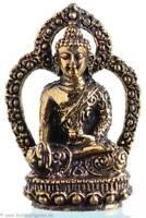 Ratnasambhava - Buddha Statue Messing 4,3cm - Handarbeit aus Nepal - Ministatue