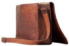 """Bag Leather Vintage Men Messenger Shoulder Satchel School S Briefcase Laptop 9"""""""