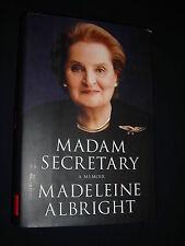 **Signed**MADAM SECRETARY A Memoir Madeleine Albright HC/DJ(LARGE PRINT)1st/1st
