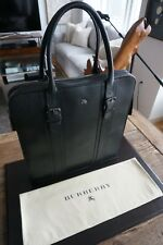 0ffd69f3b0a7 Men s Authentic Burberry Leather Full Zip Tote Bag - Rare
