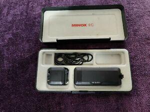 Minox EC Subminiature 8x11 Film Camera with Hard Black Case & Flash  Attachment